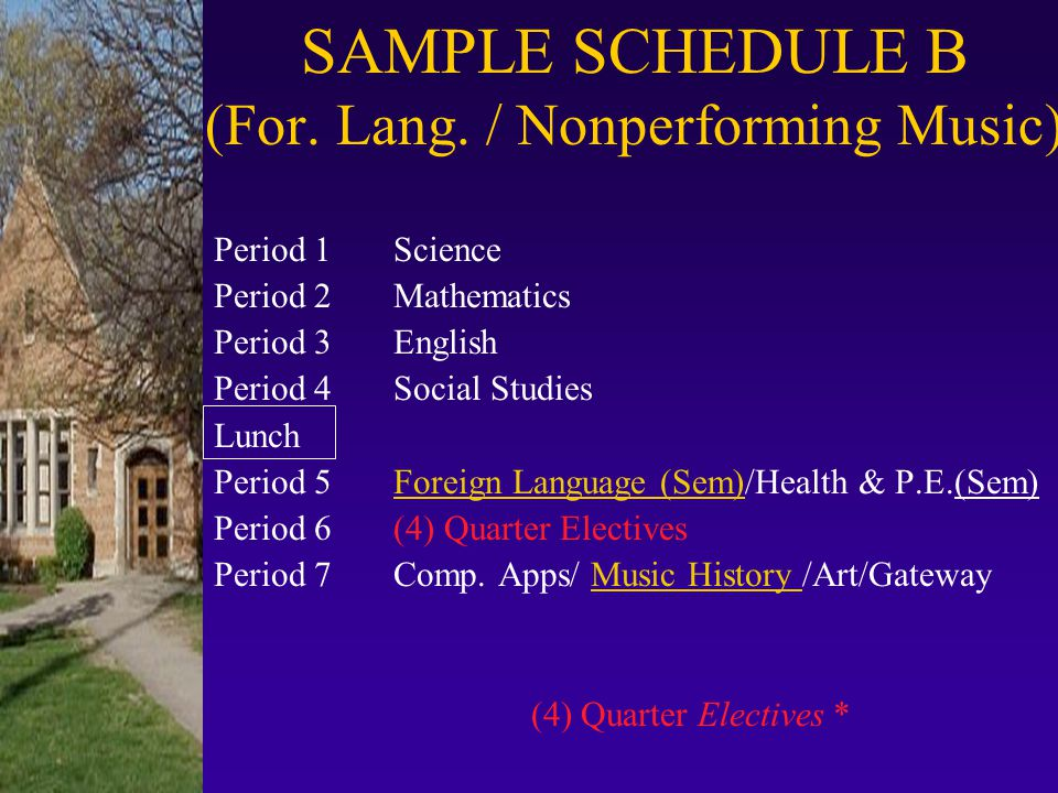 SAMPLE SCHEDULE B (For. Lang. / Nonperforming Music)