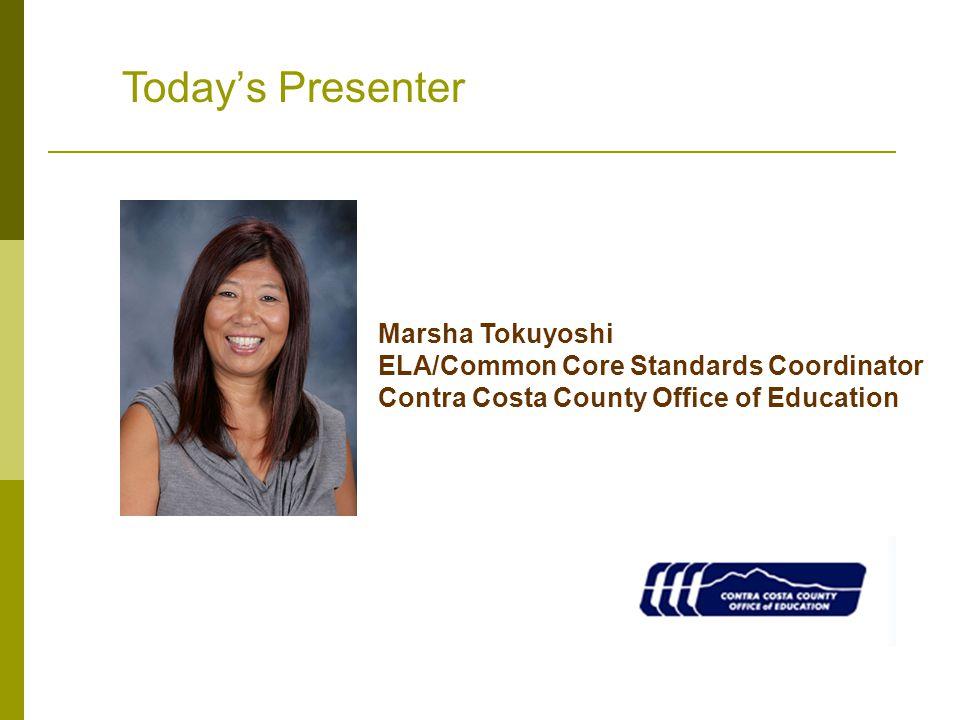 Today's Presenter Marsha Tokuyoshi