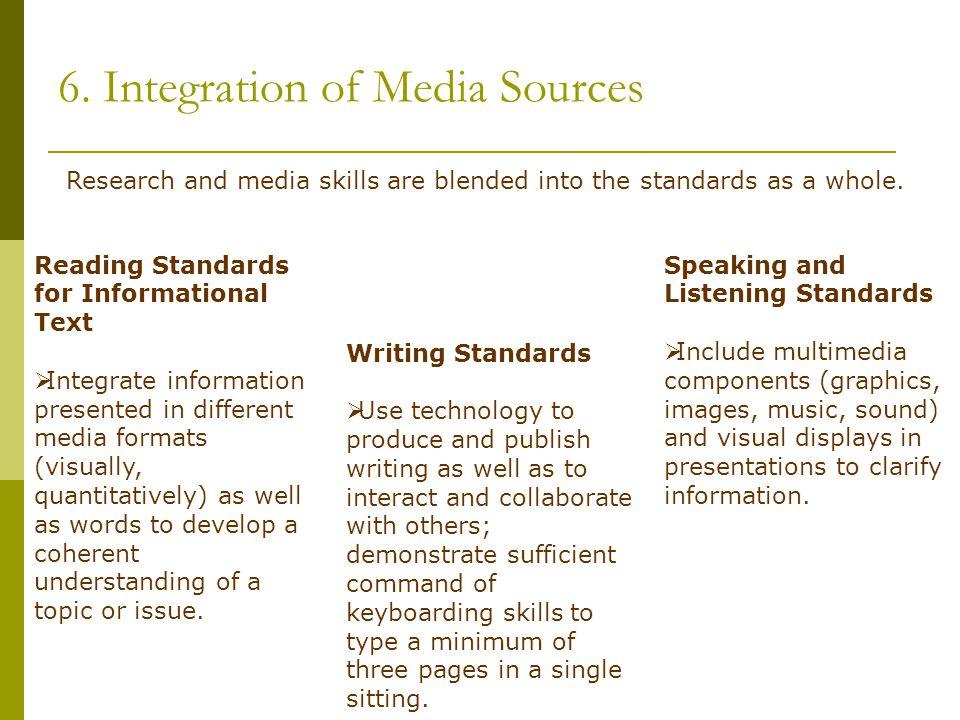6. Integration of Media Sources