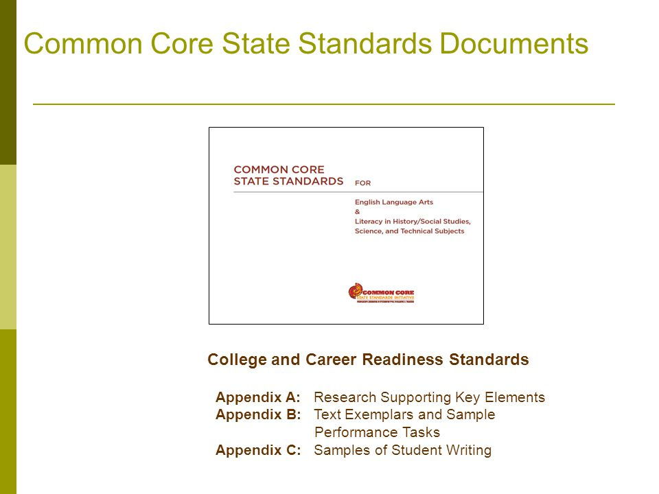 Common Core State Standards Documents