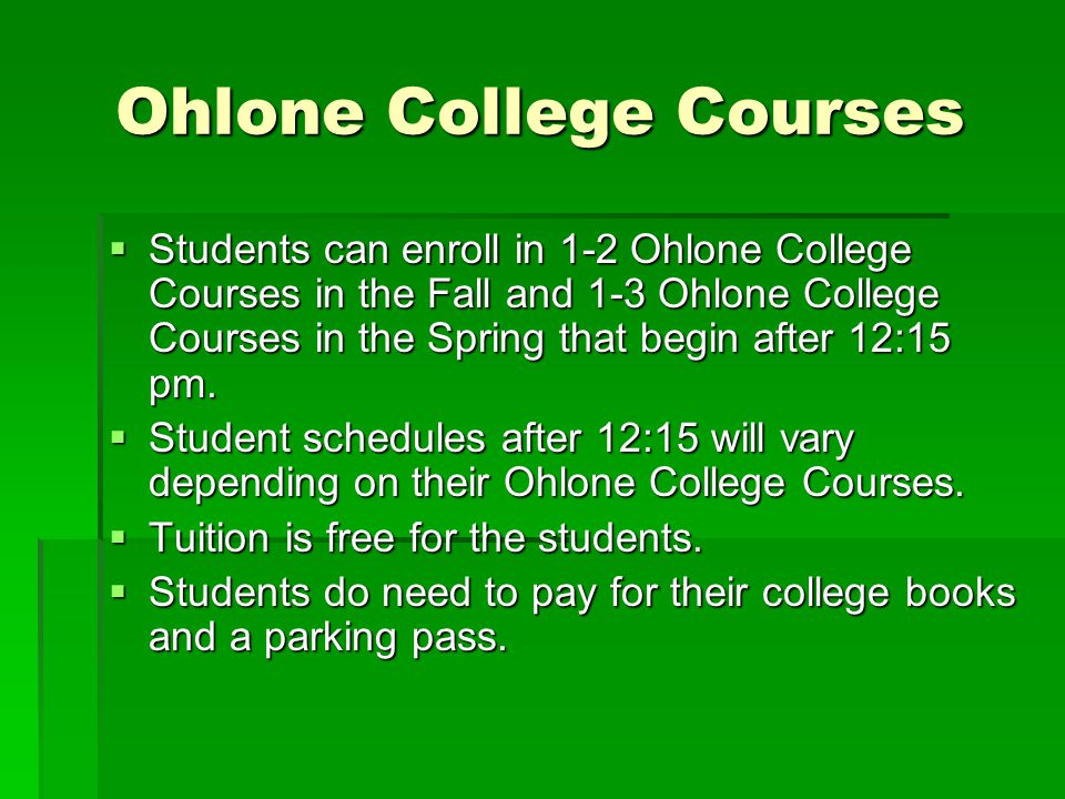 Ohlone College Courses