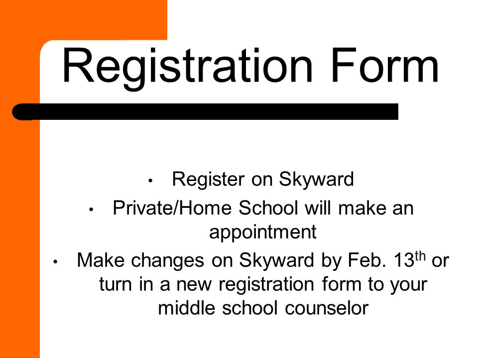 Private/Home School will make an appointment
