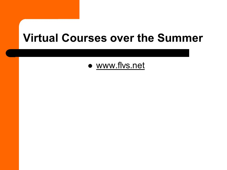 Virtual Courses over the Summer