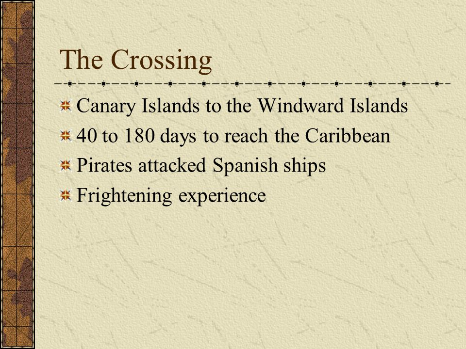 The Crossing Canary Islands to the Windward Islands