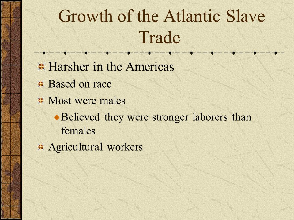 Growth of the Atlantic Slave Trade