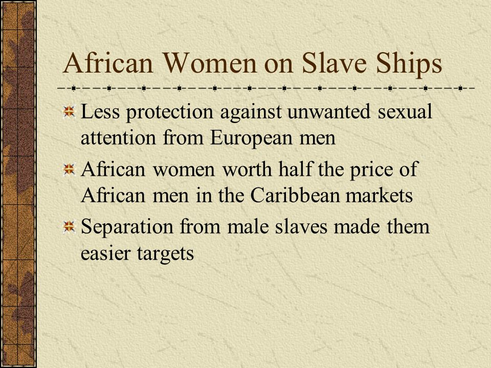 African Women on Slave Ships