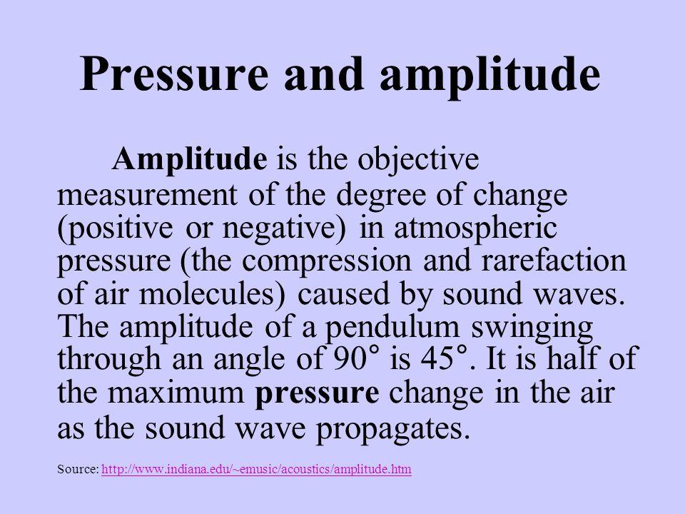 Pressure and amplitude