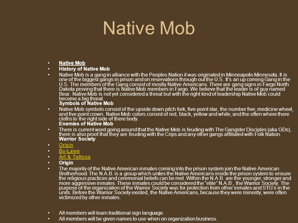 Native Mob Native Mob History of Native Mob