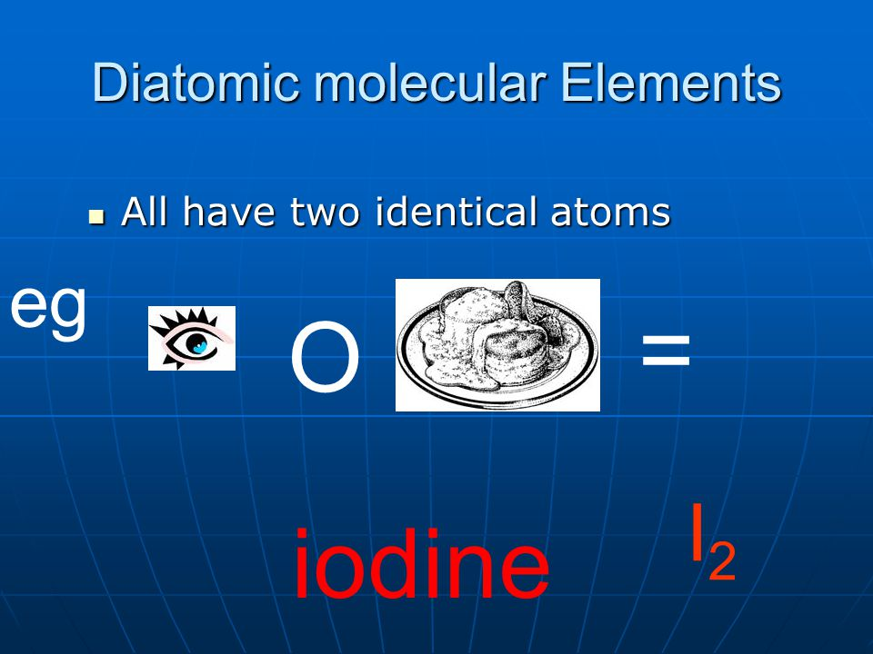 Diatomic molecular Elements