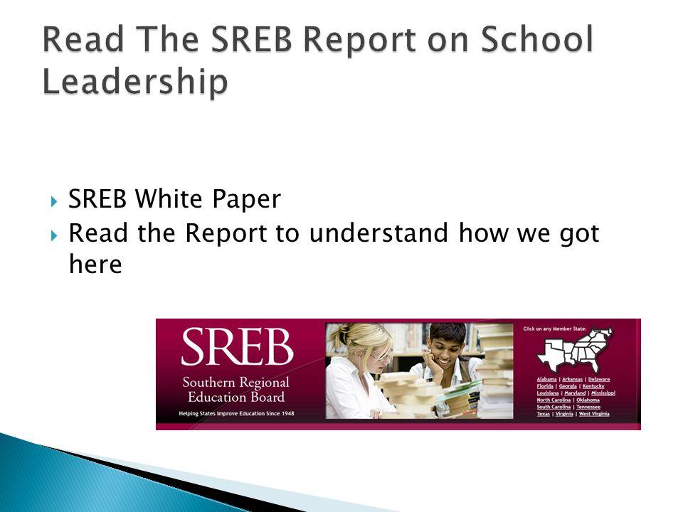Read The SREB Report on School Leadership