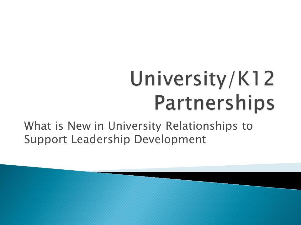 University/K12 Partnerships