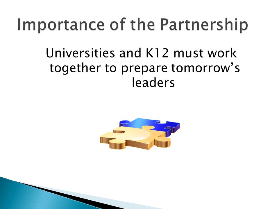 Importance of the Partnership