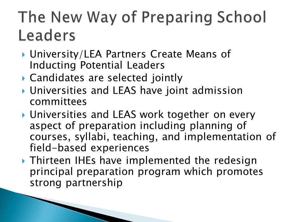 The New Way of Preparing School Leaders