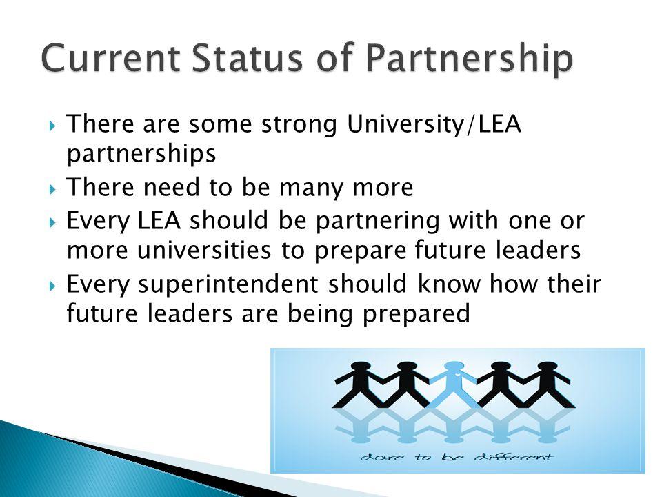 Current Status of Partnership