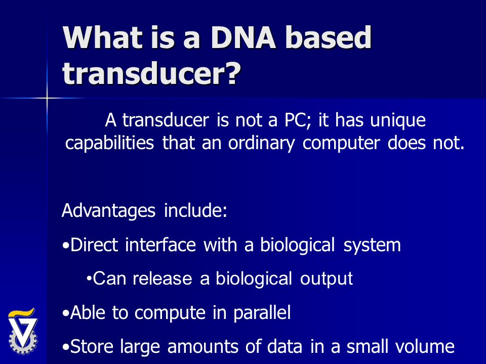 What is a DNA based transducer