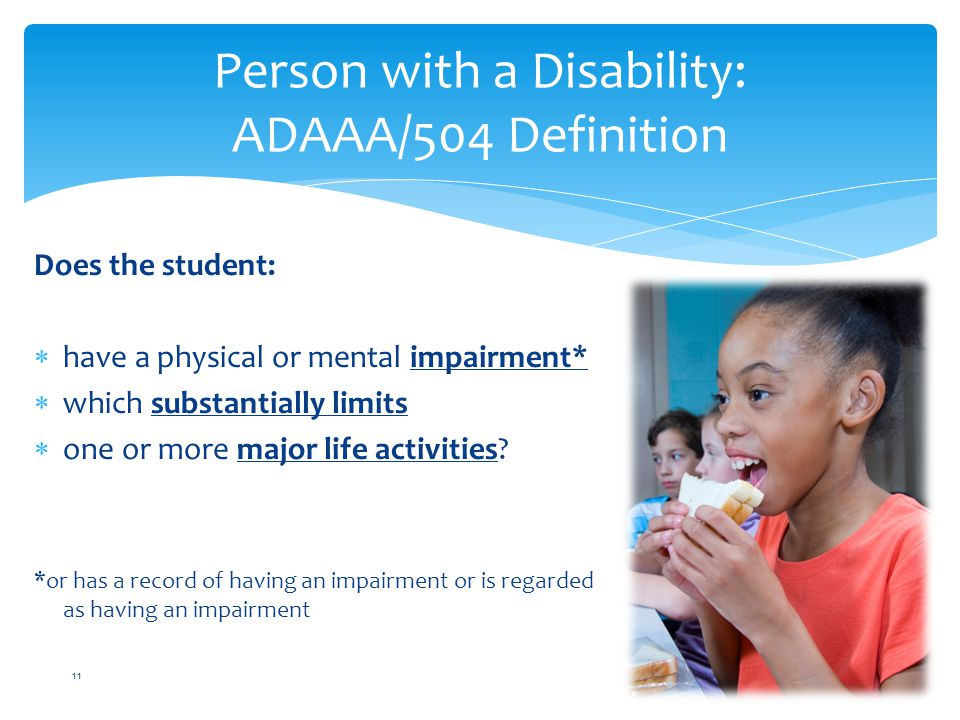 Person with a Disability: ADAAA/504 Definition