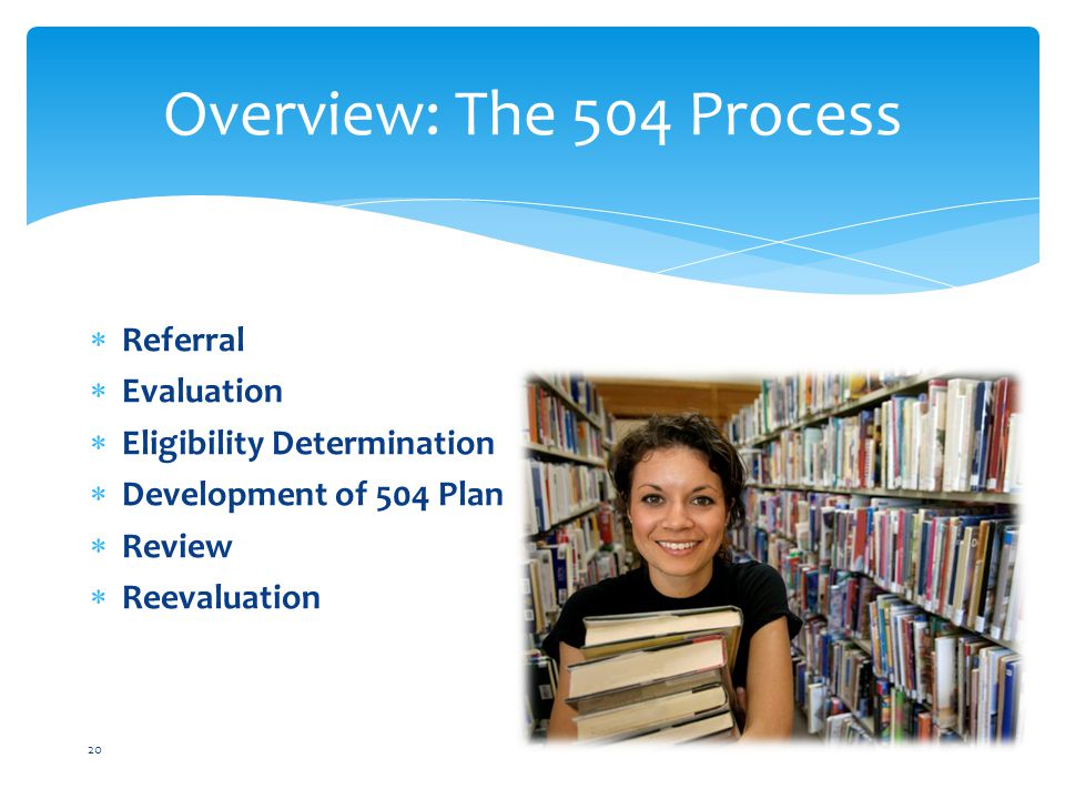 Overview: The 504 Process Referral Evaluation