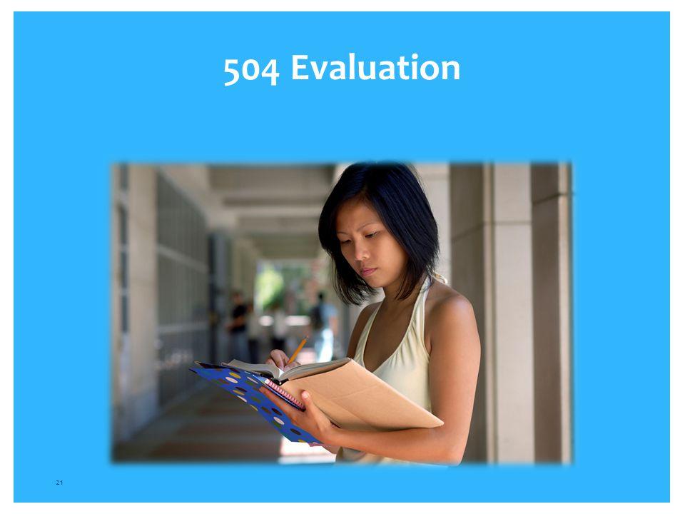 504 Evaluation