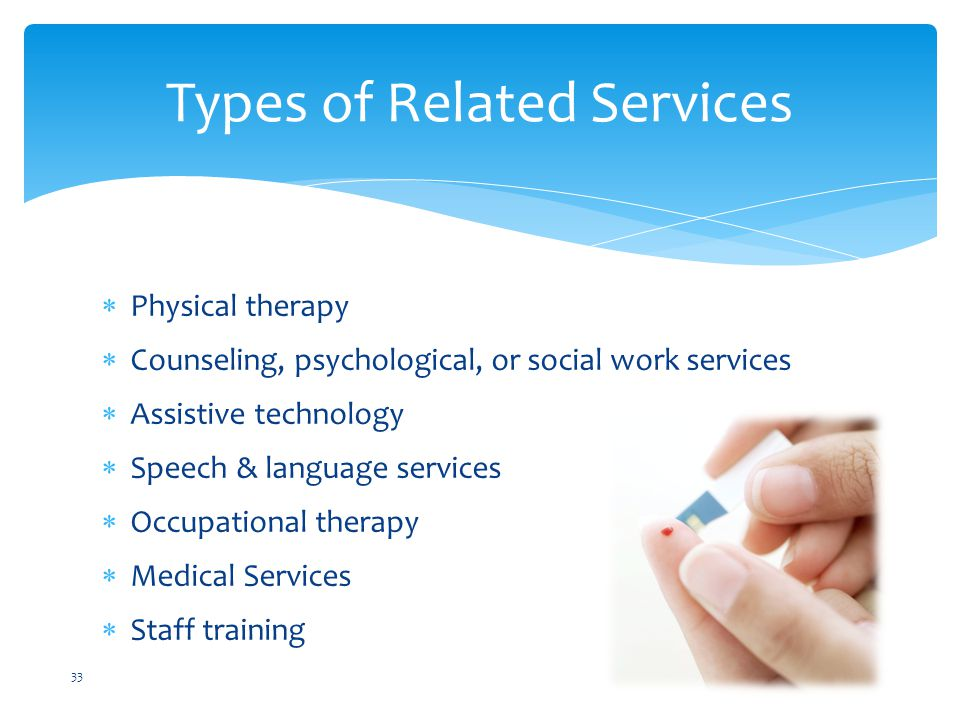 Types of Related Services