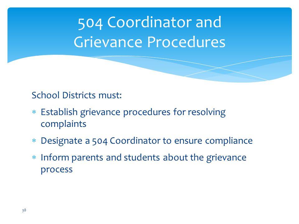 504 Coordinator and Grievance Procedures