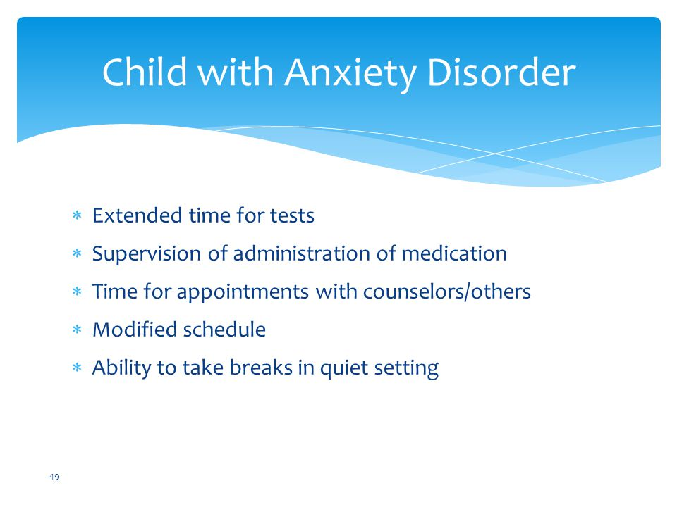 Child with Anxiety Disorder
