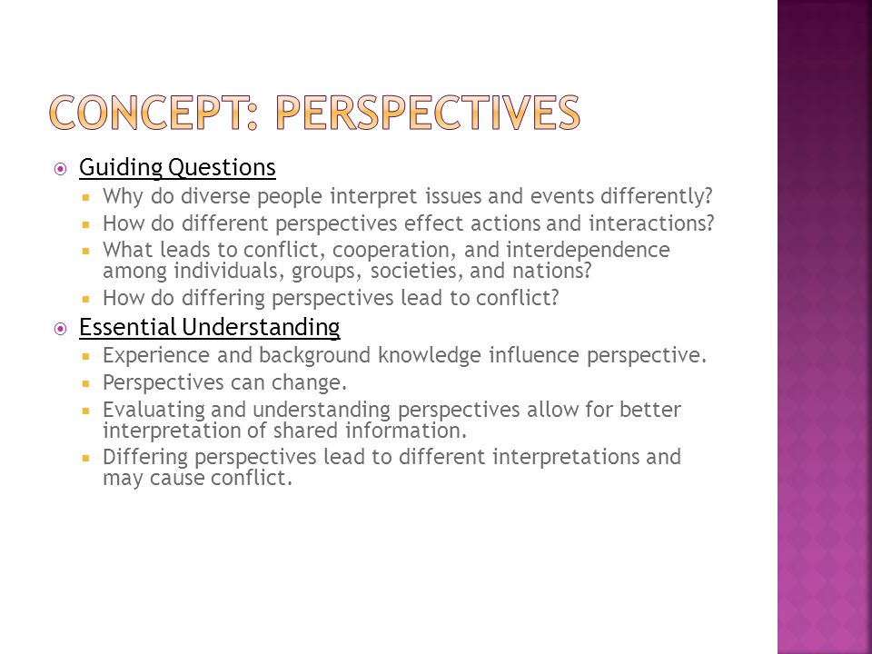 Concept: perspectives