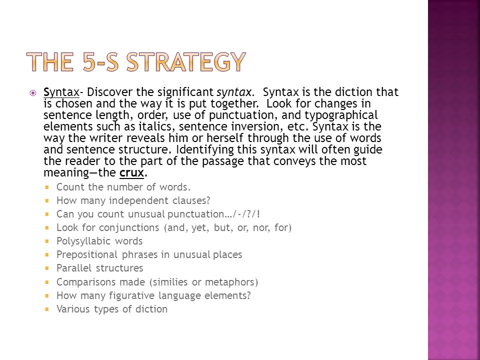 The 5-s strategy