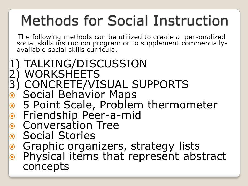 Methods for Social Instruction