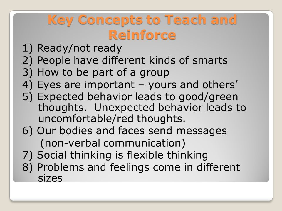 Key Concepts to Teach and Reinforce
