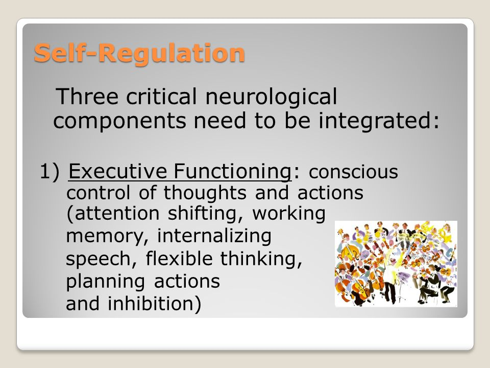 Three critical neurological components need to be integrated: