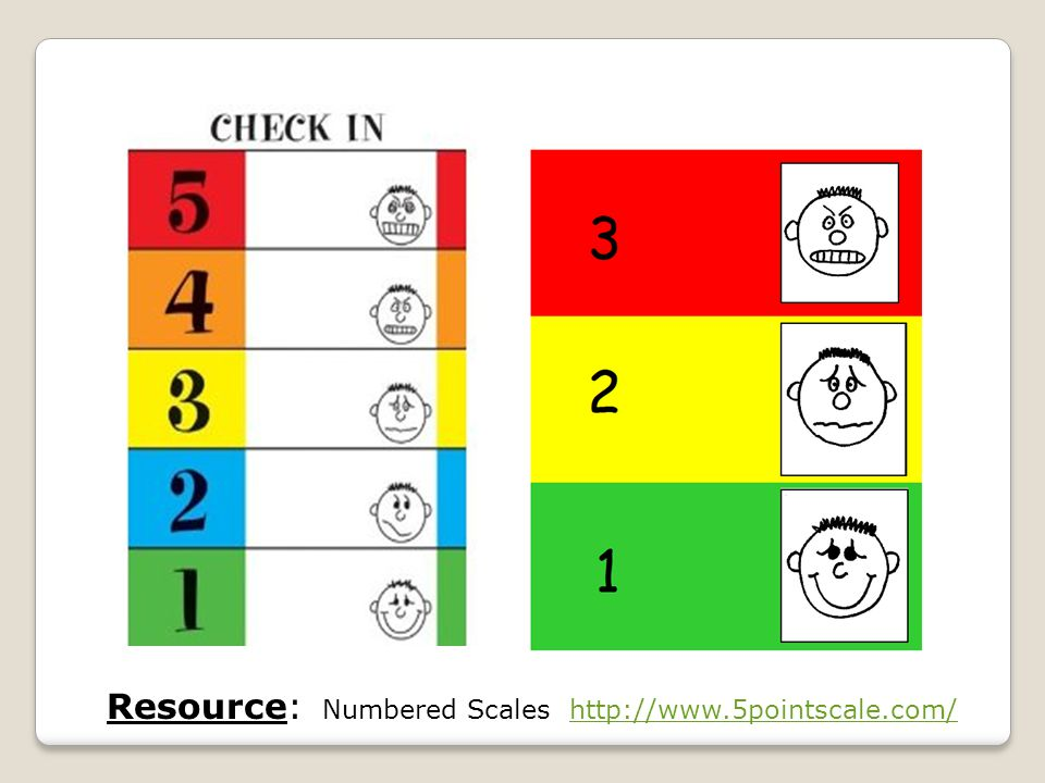 Resource: Numbered Scales http://www.5pointscale.com/