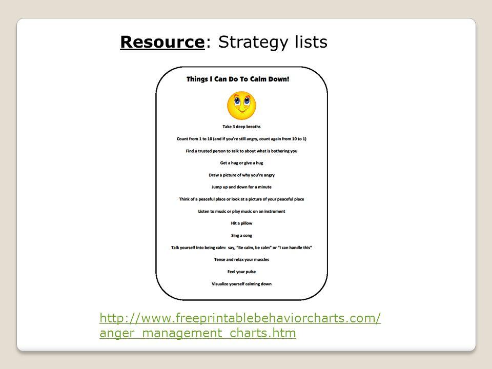 Resource: Strategy lists