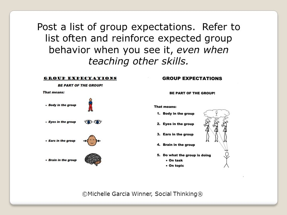 Post a list of group expectations