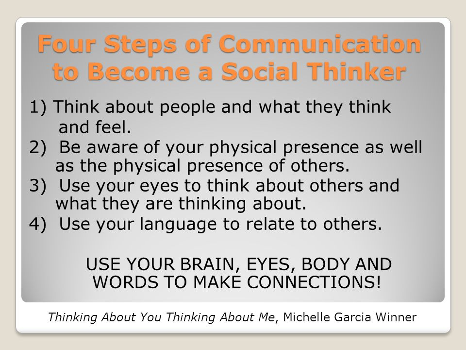 Four Steps of Communication to Become a Social Thinker