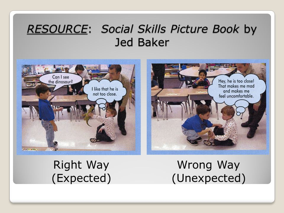 RESOURCE: Social Skills Picture Book by Jed Baker