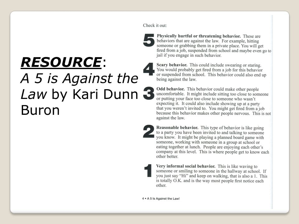 RESOURCE: A 5 is Against the Law by Kari Dunn Buron