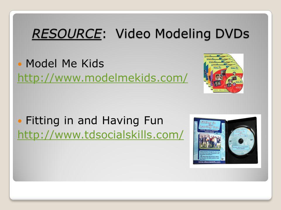 RESOURCE: Video Modeling DVDs