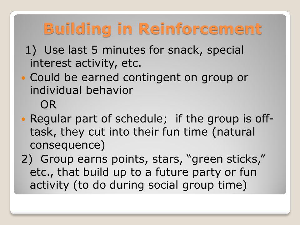 Building in Reinforcement