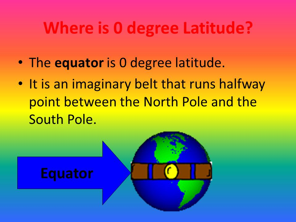 Where is 0 degree Latitude