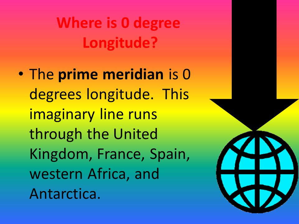 Where is 0 degree Longitude