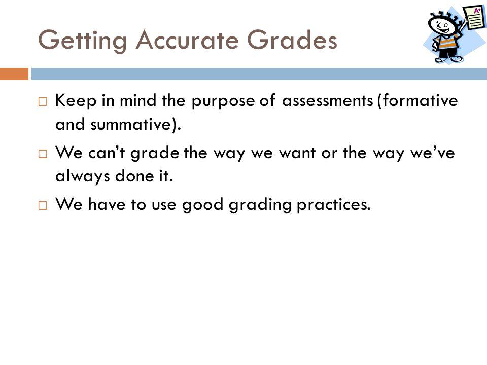 Getting Accurate Grades