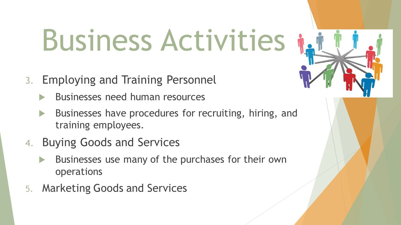 Business Activities Employing and Training Personnel