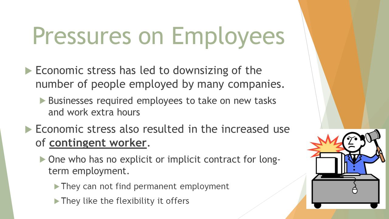 Pressures on Employees