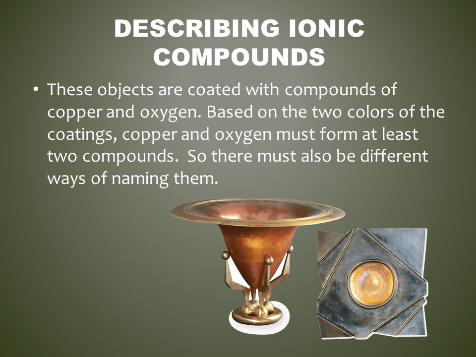 Describing Ionic Compounds