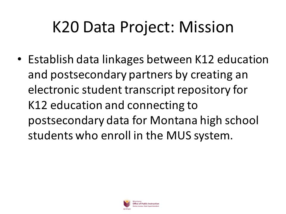 K20 Data Project: Mission