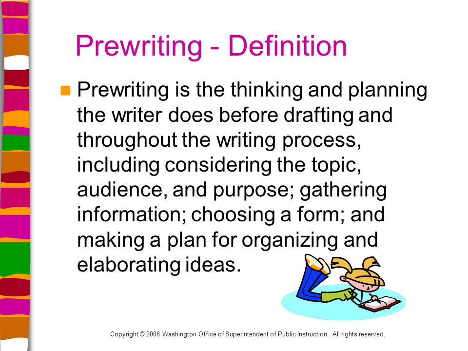 the importance of thinking and organizing thoughts in the writing process This stage of the writing process involve gathering and selecting process writing are a pictorial way of constructing knowledge and organizing information.