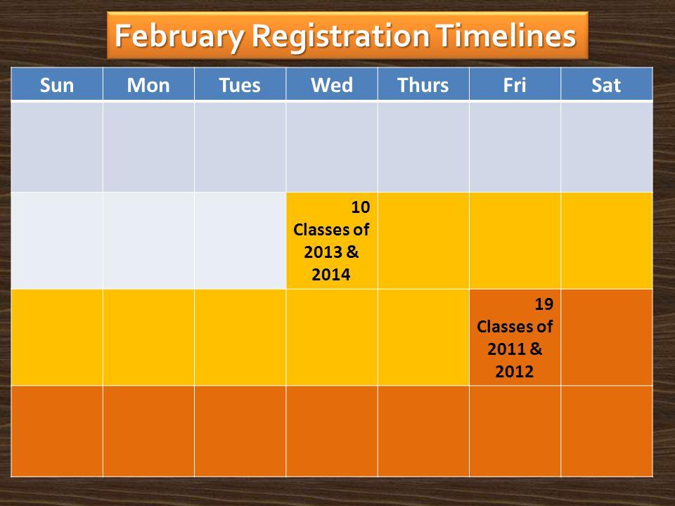 February Registration Timelines