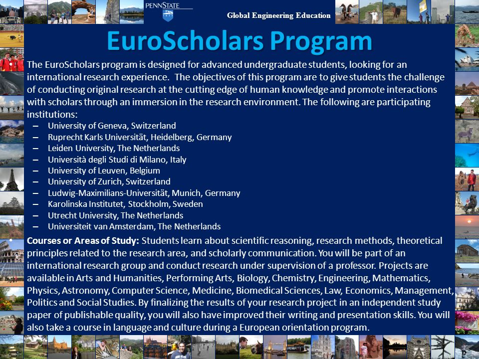 EuroScholars Program