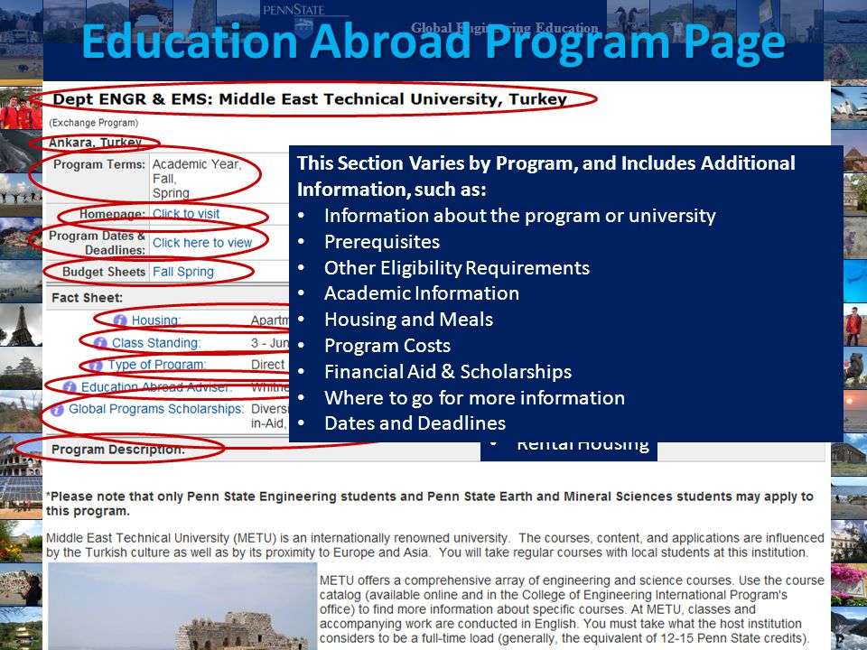 Education Abroad Program Page