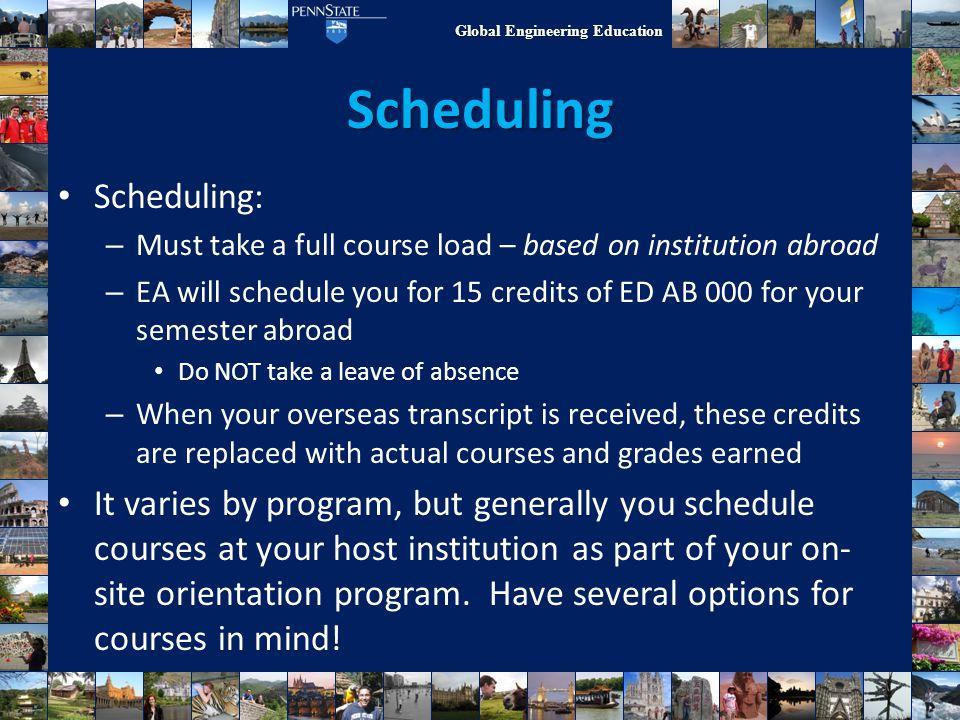 Scheduling Scheduling: